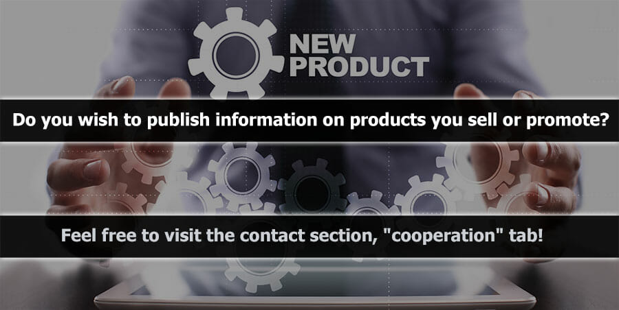 Do you wish to publish information on products you sell or promote? Feel free to visit the contact section,